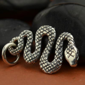 Sterling Silver Snake Charm - Animal Charm