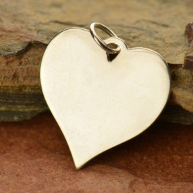 Sterling Silver Stamping Blank - Large Heart DISCONTINUED