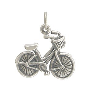 Sterling Silver Bicycle Charm 18x17mm