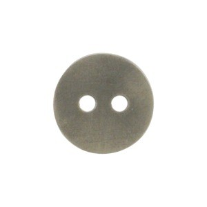 Silver Jewelry Button - Two Hole Matte and Patina Finish