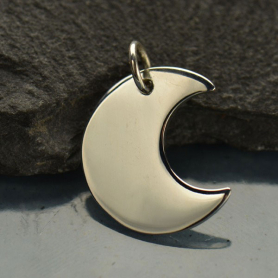 Sterling Silver Crescent Moon Charm DISCONTINUED