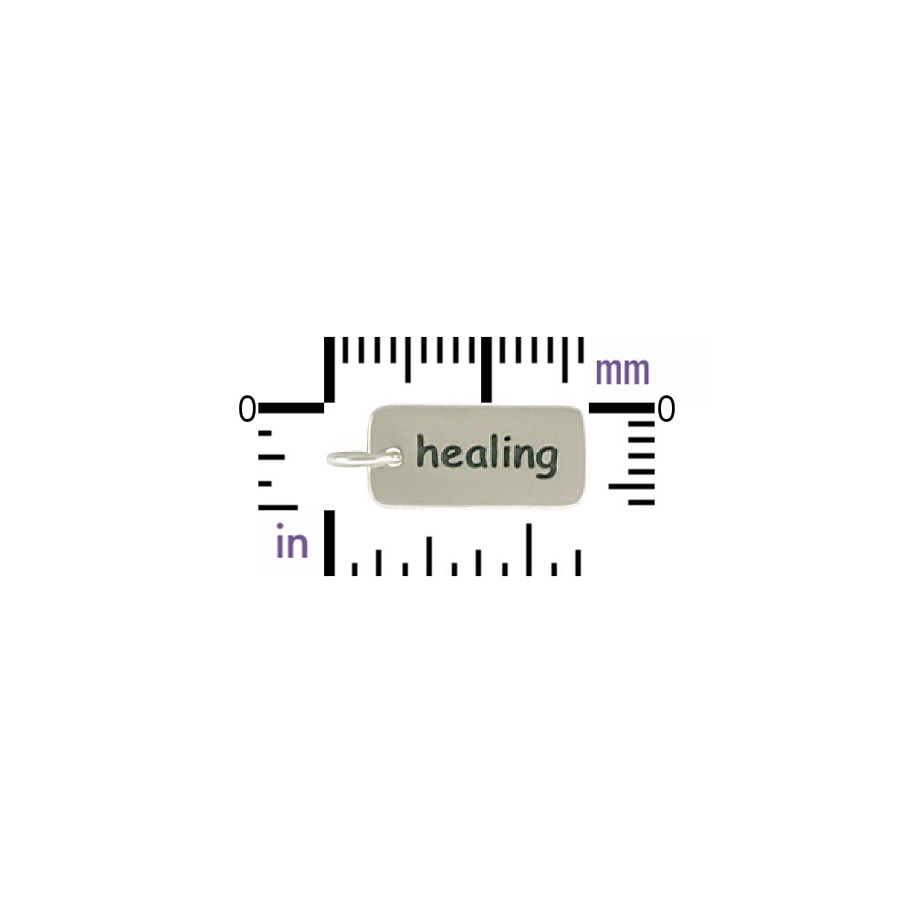 Sterling Silver Word Charm - Healing
