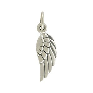 Sterling Silver Angel Wing Charm Right Side 20x5mm