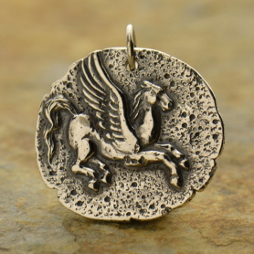 Sterling Silver Ancient Coin Charm - Pegasus