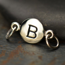 Sterling Silver Initial Charm Links - Letter B DISCONTINUED