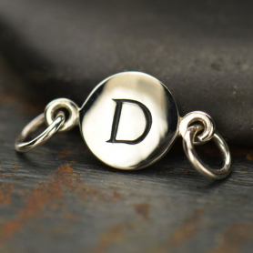 Sterling Silver Initial Charm Links - Letter D DISCONTINUED