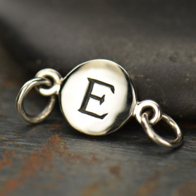 Sterling Silver Initial Charm Links - Letter E DISCONTINUED