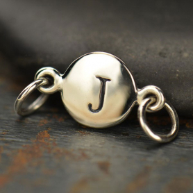 Sterling Silver Initial Charm Links - Letter J DISCONTINUED