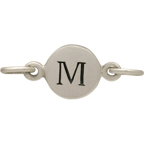 Sterling Silver Initial Charm Links - Letter M DISCONTINUED