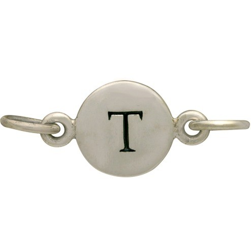 Sterling Silver Initial Charm Links - Letter T DISCONTINUED