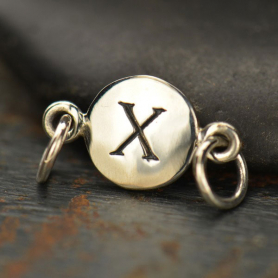 Sterling Silver Initial Charm Links - Letter X DISCONTINUED