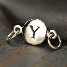 Sterling Silver Initial Charm Links - Letter Y DISCONTINUED