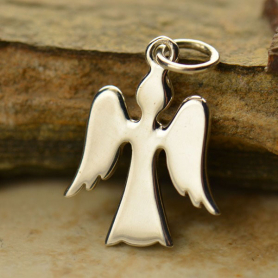 Sterling Silver Angel Charm - Christmas Charms