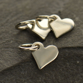 Sterling Silver Small Heart Charm 10x7mm