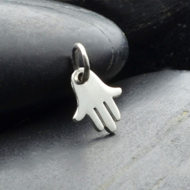 Sterling Silver Hamsa Hand - Tiny