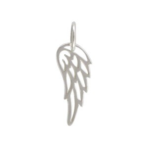 Sterling Silver Tiny Wing Charm 18x6mm