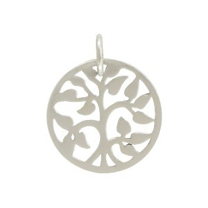Sterling Silver Small Tree of Life Charm 17x13mm
