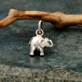 Sterling Silver Small Elephant Charm 13x9mm DISCONTINUED