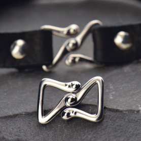 Sterling Silver Z Clasp for Leather