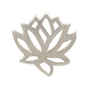 Sterling Silver Stud Earrings - Openwork Lotus 9x9mm