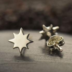 Sterling Silver Stud Earrings - North Star