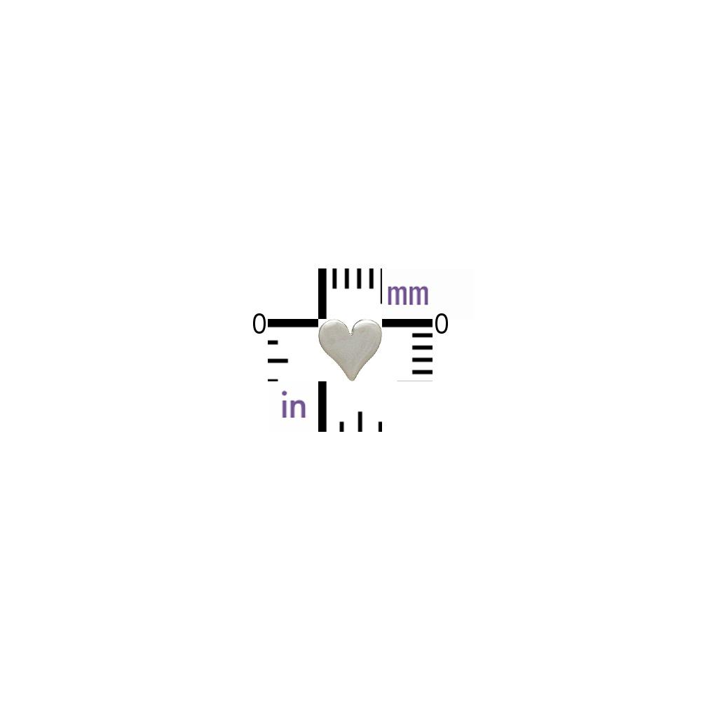 Sterling Silver Stud Earrings - Tiny Heart 5x5mm