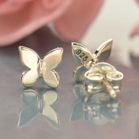 Sterling Silver Stud Earrings - Butterfly