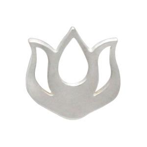 Sterling Silver Lotus Bud Post Earring