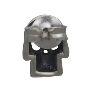 Sterling Silver Skull Post Earring 9x6mm