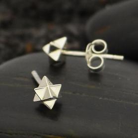 Sterling Silver Merkaba Post Earrings