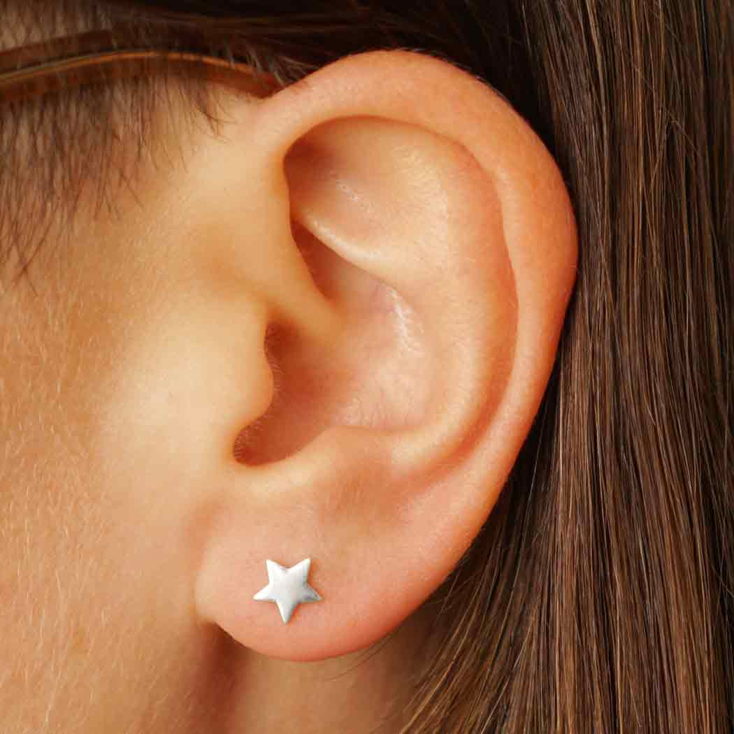 Sterling Silver Star Post Earrings