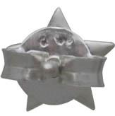 Sterling Silver Star Post Earrings 6x6mm