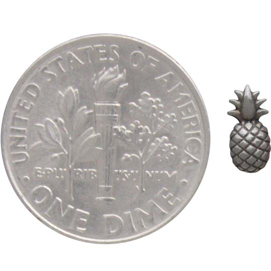 Sterling Silver Pineapple Post Earrings 7x3mm