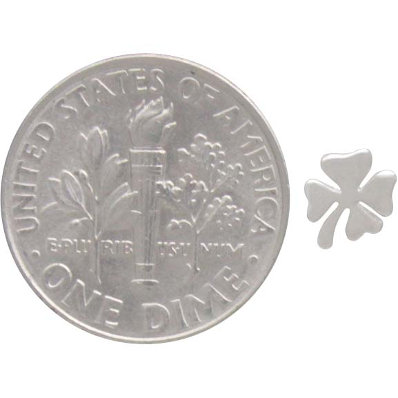 Sterling Silver Four Leaf Clover Post Earrings 5x5mm