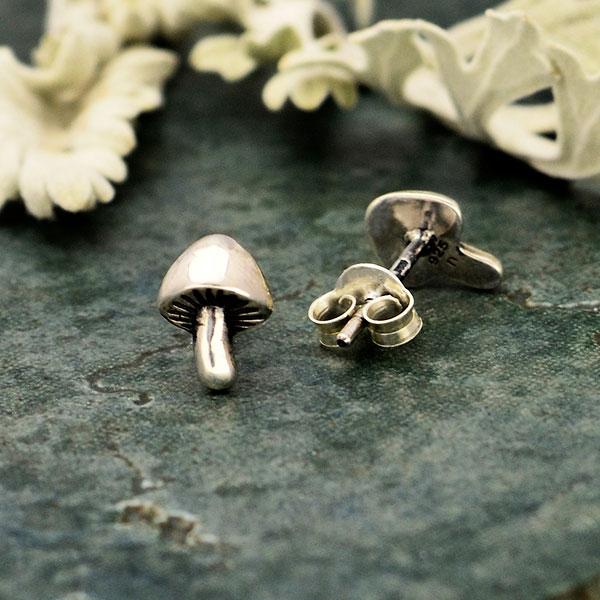 Wire Mushroom Earrings Silver Colored Wire Mushroom Earrings