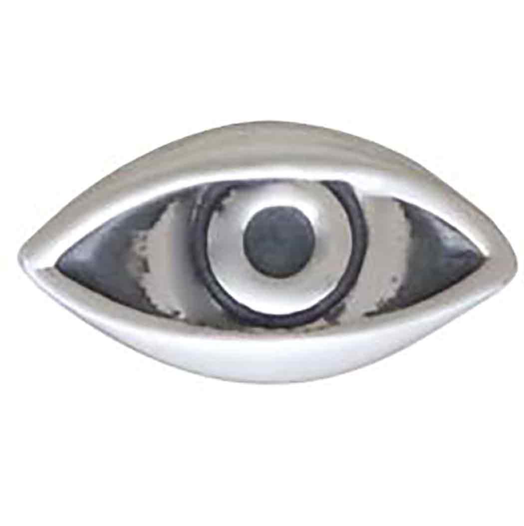 Sterling Silver Dimensional Eye Post Earrings 5x9mm