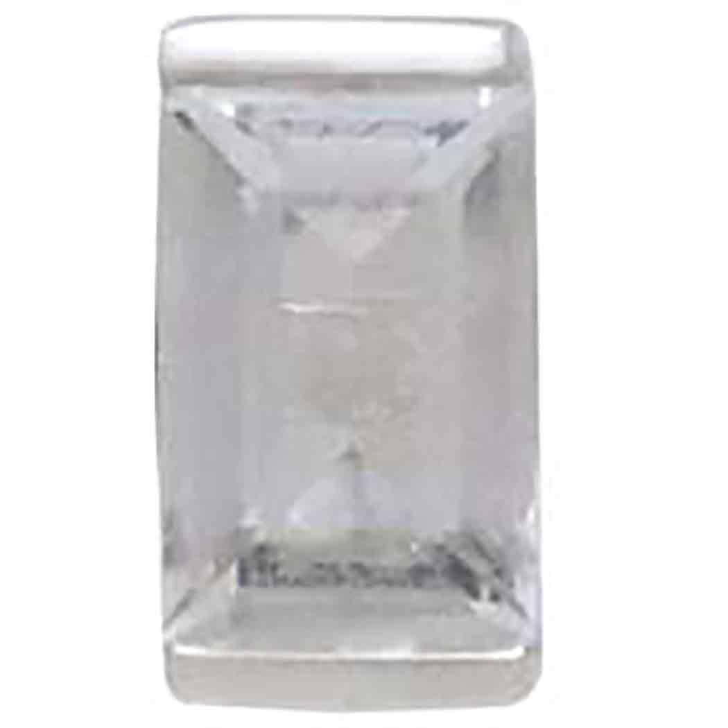 Sterling Silver Baguette Cut Nano Gem Post Earring 7x4mm