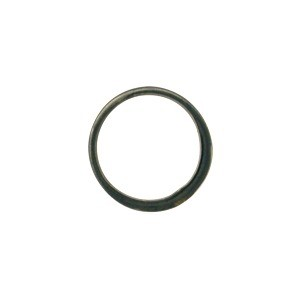 Black Sterling Silver Half Hammered Circle Jewelry Link 12mm