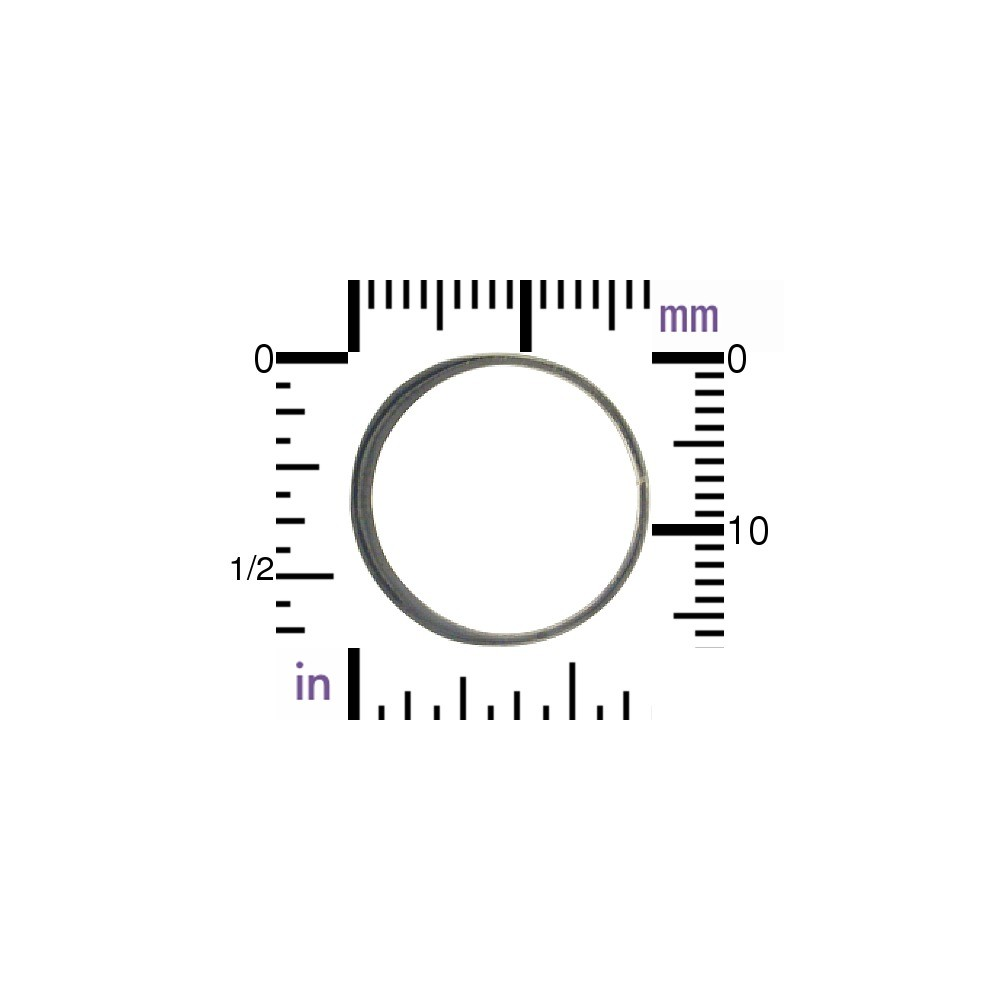 Black Sterling Silver Half Hammered Circle Link 18mm