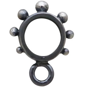 Sterling Silver Black Finish Bail with Granulation 12x6mm