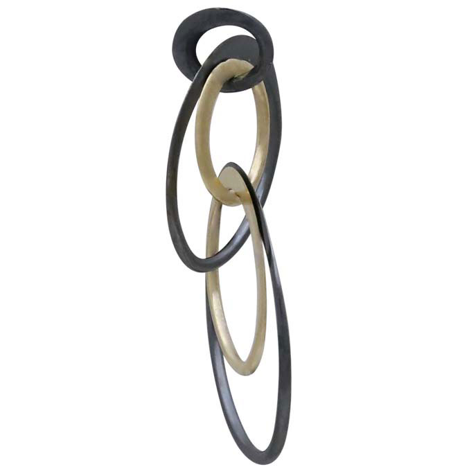Mixed Metal Double Circles of Life Link 28x18mm