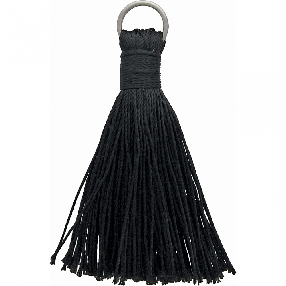 Faux Silk Tassel - Black Jewelry Tassel