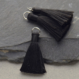Faux Silk Tassel - Black Jewelry Tassel