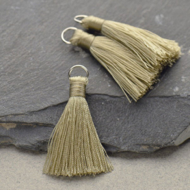Faux Silk Tassel - Light Gray Jewelry Tassel