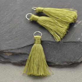 Faux Silk Tassel - Spring Green Jewelry Tassel