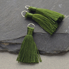 Faux Silk Tassel - Sage Jewelry Tassel