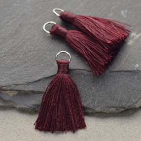 Faux Silk Tassel - Wine Jewelry Tassel