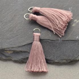 Faux Silk Tassel - Mauve Jewelry Tassel