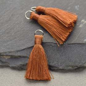 Faux Silk Tassel - Copper Jewelry Tassel