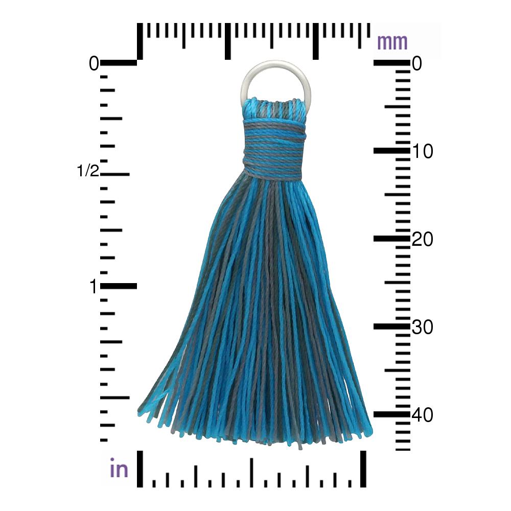 Faux Silk Tassel - Heather Turquoise Jewelry Tassel